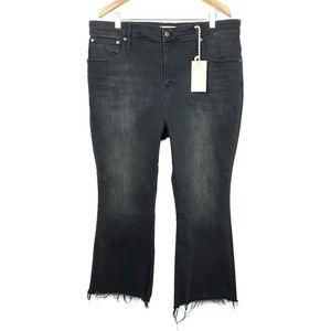 Madewell Curvy Cali Demi Boot Berkeley Black Jeans